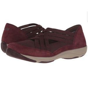 Dansko Wine Suede Hilde Criss Cross Sneakers sz 38